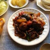 豚肉と野菜たっぷりのブラウンソース煮込み
