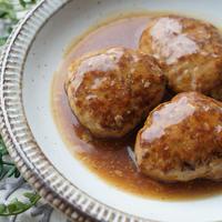 和風だし煮込みハンバーグ【レシピ】な晩ごはん。