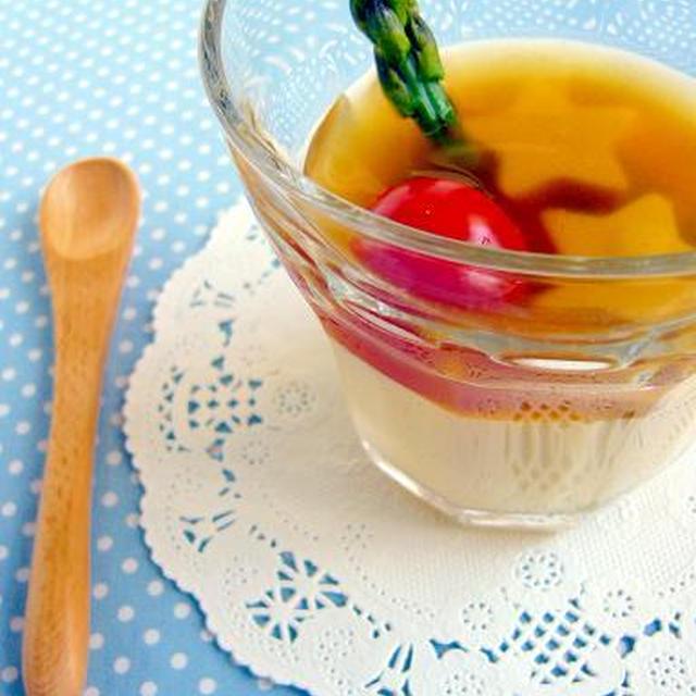 チーズ in 冷やしカラフル茶碗蒸し♪