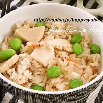 クックパッドでトップ10入り「筍と桜エビ・中華風味☆炊き込みご飯」