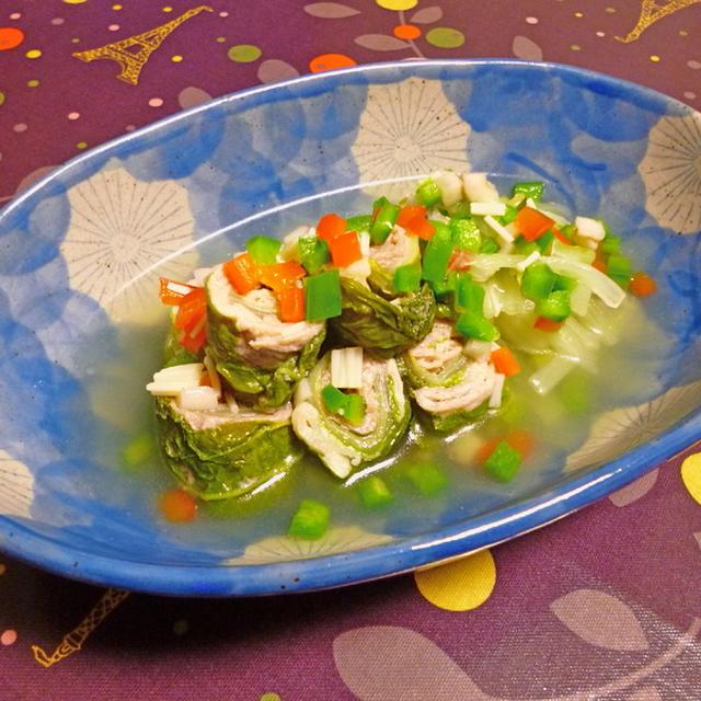 ミニロール白菜のスープ煮