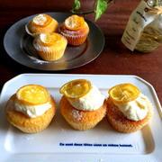 【簡単!!お菓子】しっとりふわふわ*レモンクリームのカップケーキ
