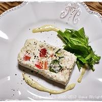 簡単■冷やして固めるお豆腐のテリーヌ■お料理教室レシピ(´・ω・`)v