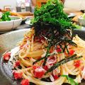 カリカリ梅とシラスのスパゲティ