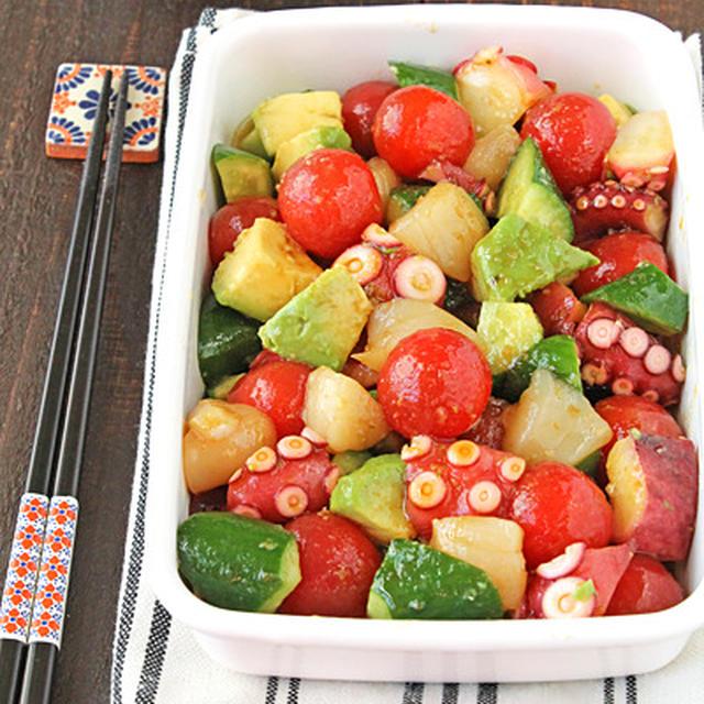 即席10分!魚介とアボカドの柚子胡椒マリネ☆クリスマスの持ち寄りに大人気
