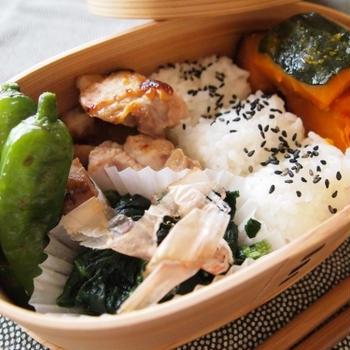 『お弁当 - とりの照り焼き弁当』 546kcal - 一汁三菜レシピ