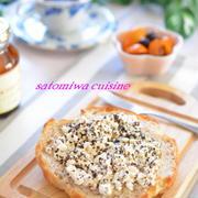 朝食に♪ カッテージチーズとローズヒップのハニートースト☆