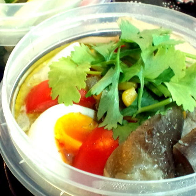 夏野菜のグリーンカレー弁当&オマケのレシピ
