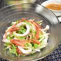 ヤリイカとみょうがのサラダ。デパ地下デリのサラダをおうちで手軽に。