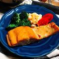美味しすぎる組み合わせでした。鮭のめんつゆバタームニエル