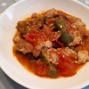 夏野菜と鶏肉の煮込み