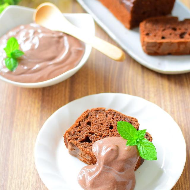白砂糖は使わない!豆腐ココアケーキのココアクリームがけのレシピ
