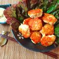 食感に笑顔。辛子梅マヨネーズ柔らか鶏エノキナゲット(糖質6.4g) by ねこやましゅんさん