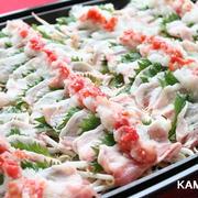 豚バラと梅おろしのさっぱり蒸ししゃぶ♪簡単!ホットプレート料理〜