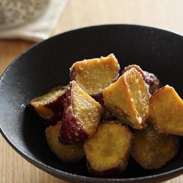 揚げサツマイモのシュガーバター