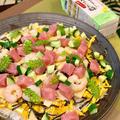 「だしのきいたまろやかなお酢」で手軽に筍のバラちらし・・・昨日の夕食です ♪♪