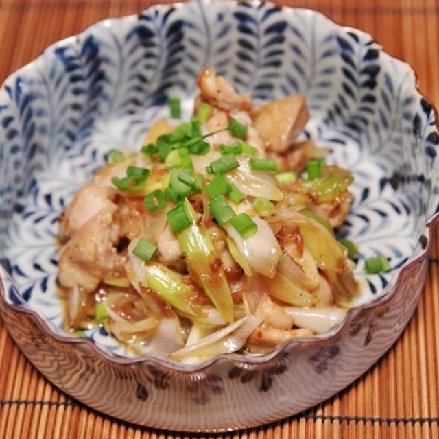 鶏と長ネギのポン酢炒め と 胡麻豆腐
