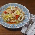 【夏バテ予防のさっぱりレシピ】イカと海老の旨み!たっぷり野菜の海鮮マリネ
