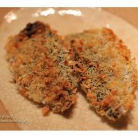 ノンフライヤープラス で 鯵のマヨパン粉焼き