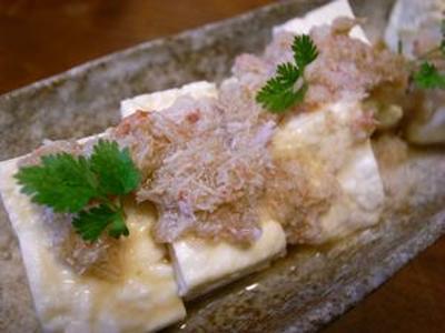 >#261 豆腐のカニごま油醤油 by デコポン大王さん