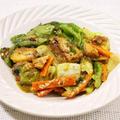 サバ缶とレタスのカレー炒め|レシピ・作り方