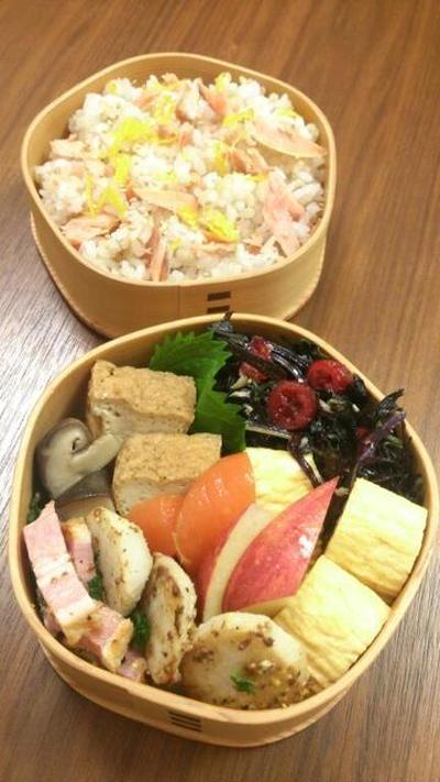 2016/11/21鮭の混ぜごはん弁当