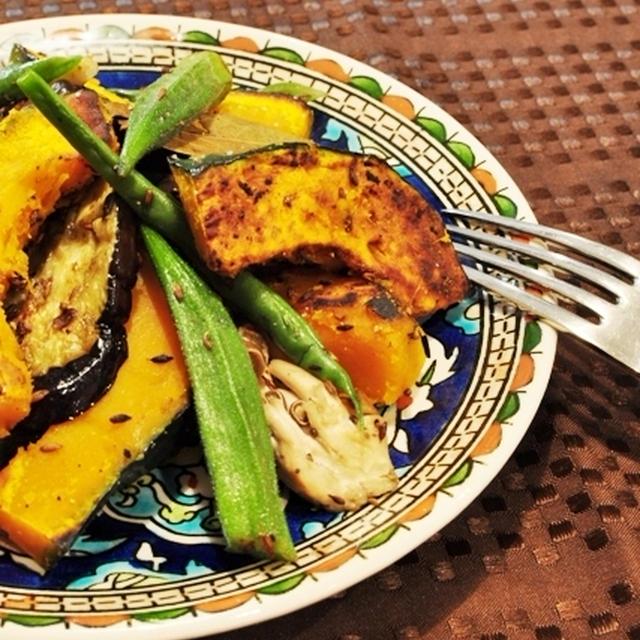 かぼちゃと色々野菜のクミン炒め