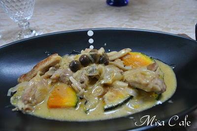 鶏肉とカボチャのミルク煮