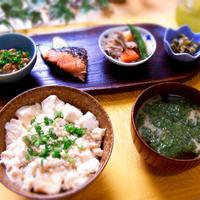 バター醤油味の豆腐丼 & 最近の晩ご飯は・・