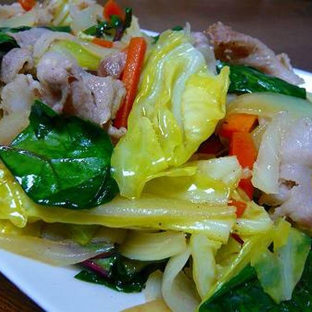 普通の野菜炒め、おいしっ♪