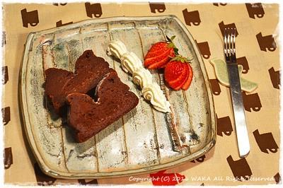 簡単■絶品半熟チョコレートケーキ■内緒にしたいとっておきケーキ♪(*´∀`)