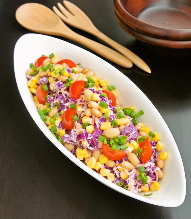 5.紫キャベツと大豆のコールスロー
