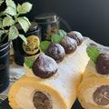 新鮮たまご「会津地鶏たまご」で栗渋皮煮のノンオイルシフォン生地ロールケーキです by pentaさん