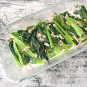 火を使わずに5分で作れる簡単常備菜。小松菜のツナおひたし(こまツナおひたし)