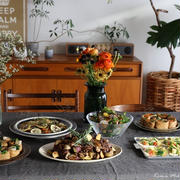 【料理と花のコラボ、撮影させていただきました】