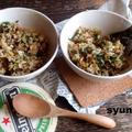 【簡単カフェごはん】美味!ひき肉とニラとゴマのにんにく甘辛炒飯