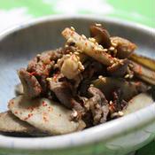*ごぼうと牛肉としめじの炒め煮