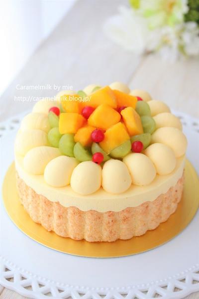 南国フルーツのチーズムースケーキ 2019バースデーケーキ ②
