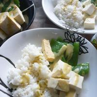 刺身こんにゃく&お豆腐のヘルシー朝食プレート★