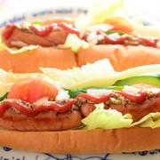 野菜たっぷりのホットドッグ by Marikoさん