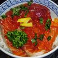 1・2・3で出来る海鮮丼&鯖のタルタルソース添え