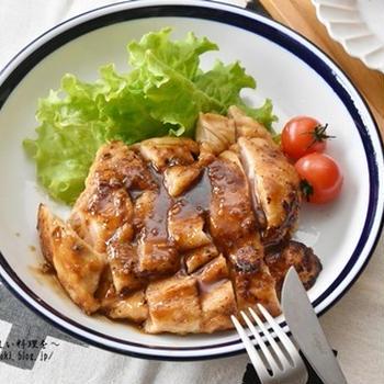 簡単 節約 鶏むね肉のボリューム照り焼き