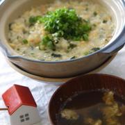 丸美屋混ぜ込みわかめで わかめたまご雑炊と、混ぜ込み中華風スープ