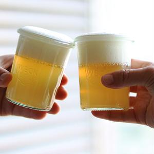 父の日に、ビールそっくり?林檎ゼリーで乾杯