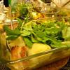 里芋と玉葱とブロックベーコン エルブ・ド・プロバンスとローリエで焚いてクレソンのっけ