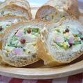 ポテトサラダのフランスパン詰め