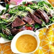 野菜とお肉を一緒に食べてさっぱりがっつり!「ステーキサラダ」