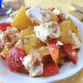 柚子胡椒でちょいピリリ♪ パプリカとクリームチーズのおかか和え