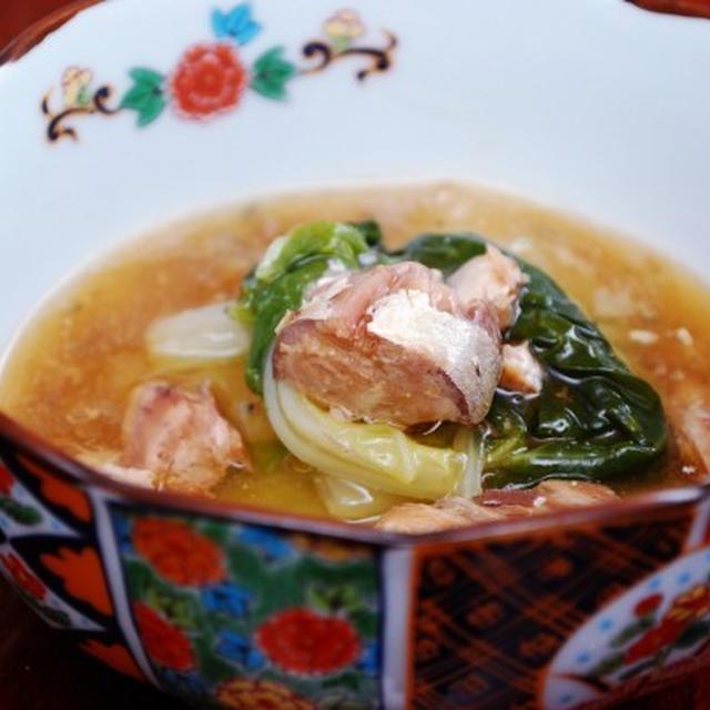 サバ缶と白菜の煮物