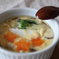 ごろっとカマンベールチーズの豆乳茶碗蒸し